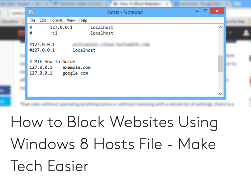 Hosts -Notepad File Edit Format View Help # 127001 Localhost