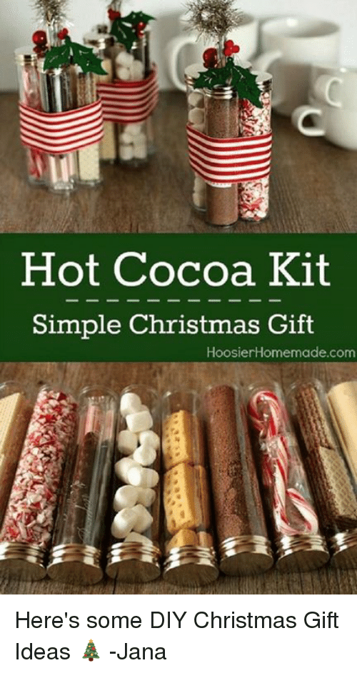 Hot Cocoa Kit Simple Christmas Gift Hoosier Homemade Com Here\'s Some ...