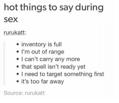 Hot things to do during sex