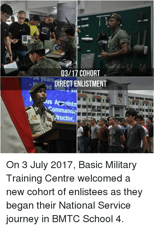 HOTE 0317 COHORT DIRECT ENLISTMENT Ommanos Tructor on 3 July
