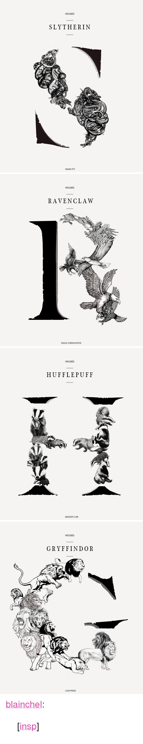 "Gryffindor, Slytherin, and Target: HOUSES  SLYTHERIN  SNAKE PIT   HOUSES  RAVENCLAW  EAGLE C   HOUSES  HUFFLEPUFF   HOUSES  GRYFFINDOR  LION PRIDE <p><a href=""http://blainchel.tumblr.com/post/151985334564/insp"" class=""tumblr_blog"" target=""_blank"">blainchel</a>:</p> <blockquote><p>[<a href=""https://www.behance.net/gallery/16227881/Horse-%28Illustration%29"" target=""_blank"">insp</a>]<br/></p></blockquote>"