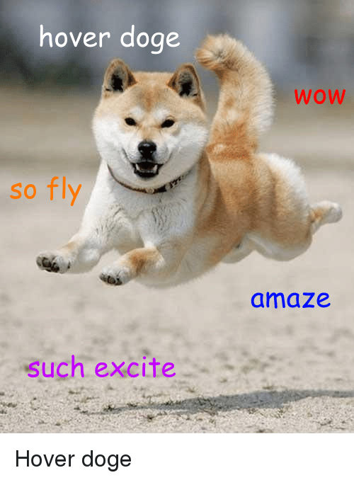 Hover Doge So Fly Such Excite WOW Amaze Hover Doge | Doge ...