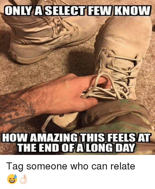Memes, Tag Someone, and Amazing: HOW AMAZING THIS FEELS AT  THE END OFALONG DAY Tag someone who can relate 😅👌🏻