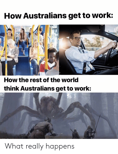 Reddit, Work, and World: How Australians get to work:  How the rest of the world  think Australians get to work: What really happens