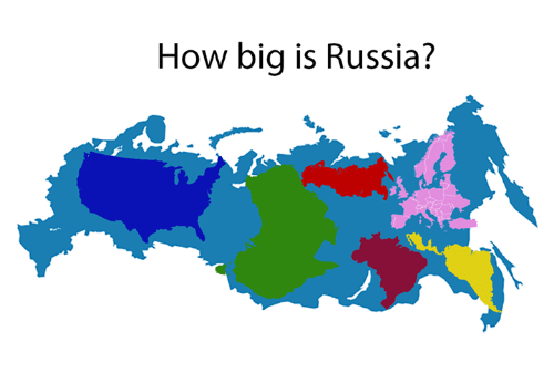 how big is russia russia meme on On how big is america
