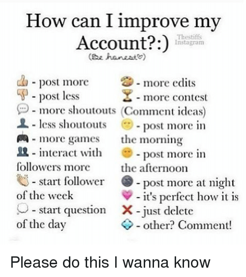 How can i improve my account thestiffs instagram gee han este post memes and gee how can i improve my account thestiffs instagram ccuart Choice Image