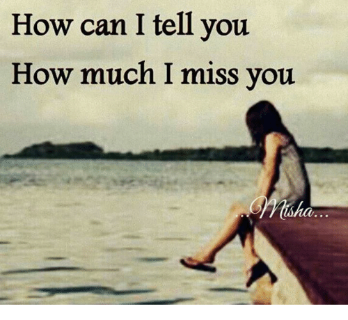 How Can I Tell You How Much I Miss You Miha Meme On Meme