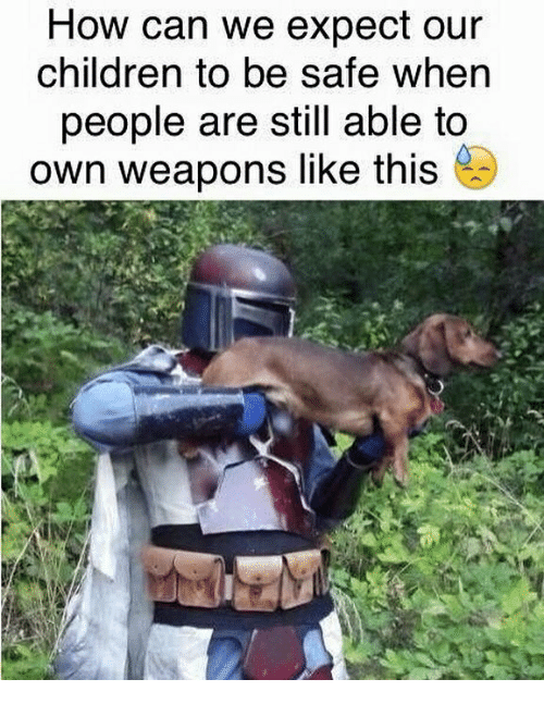 Children, Dank Memes, and How: How can we expect our  children to be sate when  people are still able to  own weapons like this