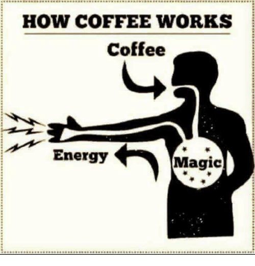 Memes and 🤖: HOW COFFEE WORKS  Coffee  Energy  Magic