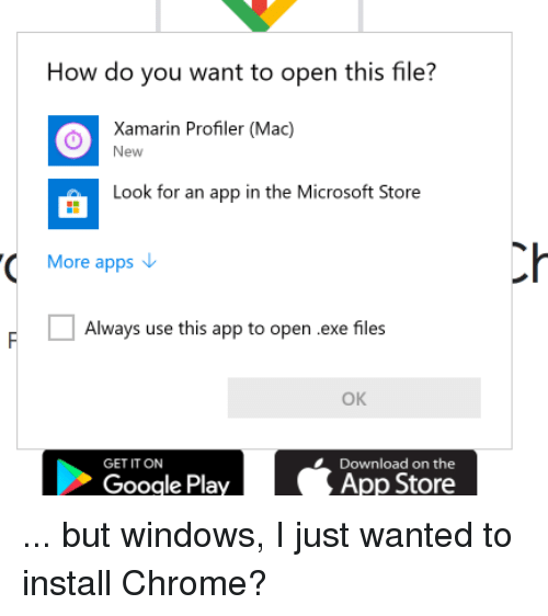 How Do You Want to Open This File? O Xamarin Profiler Mac