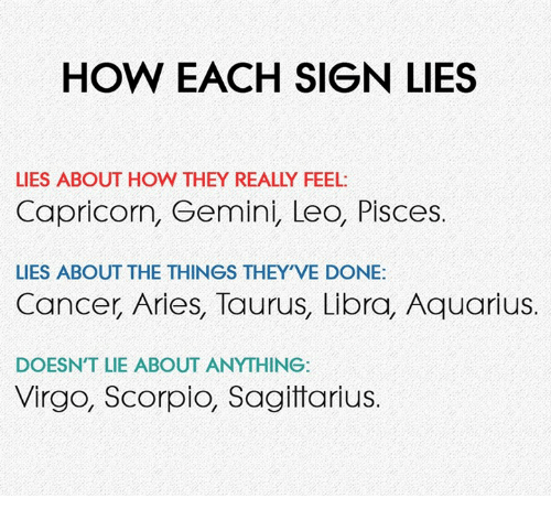 Do capricorns lie