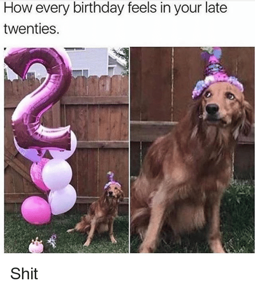 Birthday, Shit, and Girl Memes: How every birthday feels in your late  twenties. Shit