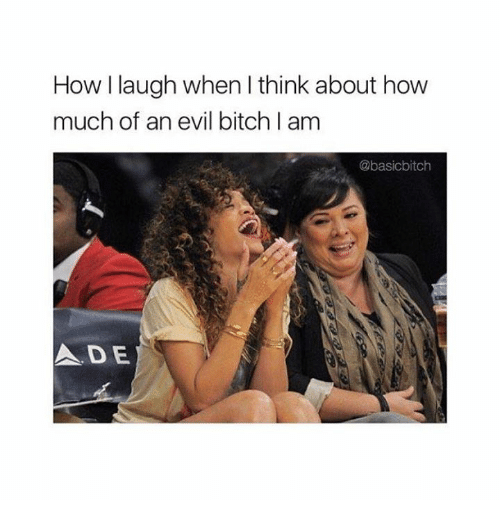 Bitch, Relationships, and Evil: How I laugh when I think about how  much of an evil bitch I am  @basicbitch  ADE
