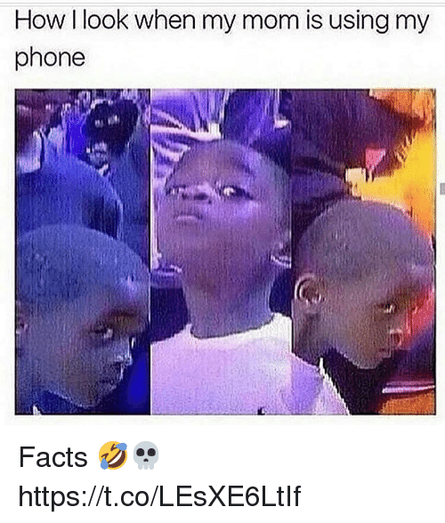 Facts, Memes, and Phone: How I look when my mom is using my  phone Facts 🤣💀 https://t.co/LEsXE6LtIf