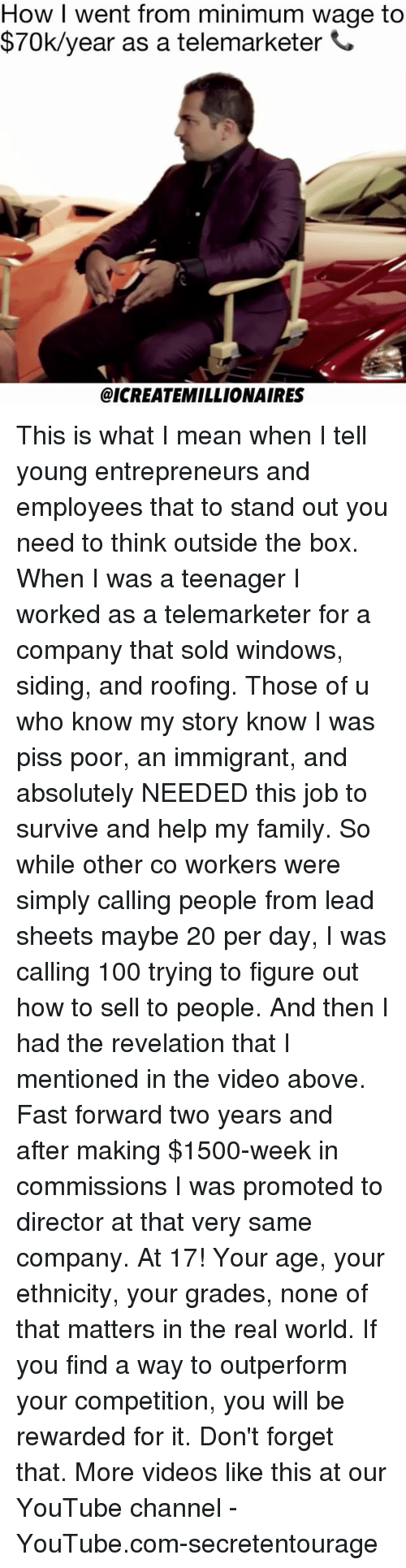 How I Went From Minimum Wage To 70kyear As A Telemarketer