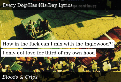 How in the Fuck Can I Mix With the Inglewood?! I Only Got