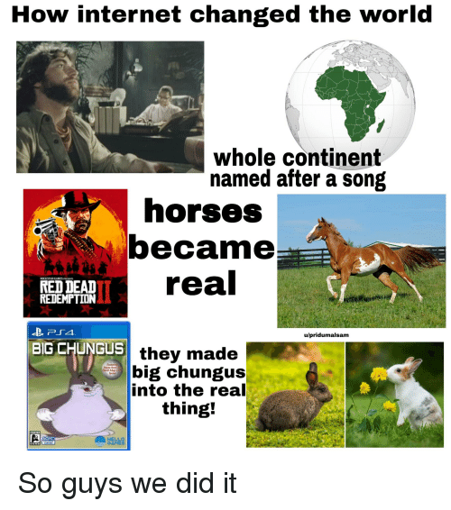 How Internet Changed the World Whole Continent Named After a Song