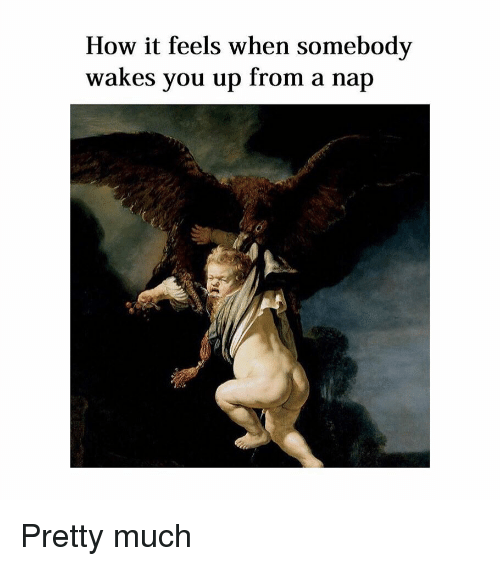 Classical Art, How, and You: How it feels when somebody  wakes you up from a nap Pretty much
