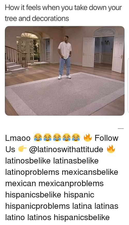 Latinos, Memes, and Tree: How it feels when you take down your  tree and decorations Lmaoo 😂😂😂😂😂 🔥 Follow Us 👉 @latinoswithattitude 🔥 latinosbelike latinasbelike latinoproblems mexicansbelike mexican mexicanproblems hispanicsbelike hispanic hispanicproblems latina latinas latino latinos hispanicsbelike