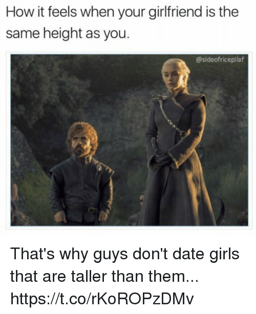 Dating guys the same height as you