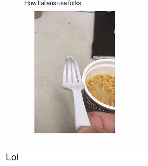 Lol, Memes, and 🤖: How Italians use forks Lol