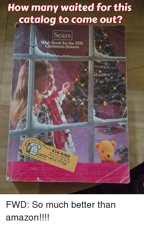 How Many Waited for This Catalogto Come Out? Sears Wish Book
