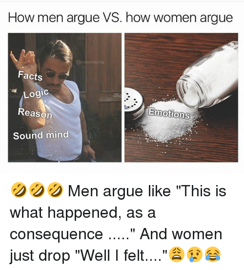 why men and women argue