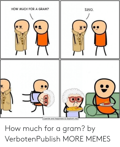 Dank, Memes, and Target: HOW MUCH FOR A GRAM?  $250  1  Cyanide and Happiness ⓒ Explosm.ret How much for a gram? by VerbotenPublish MORE MEMES