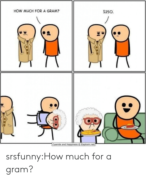 Tumblr, Blog, and Cyanide and Happiness: HOW MUCH FOR A GRAM?  $250  1  Cyanide and Happiness ⓒ Explosm.ret srsfunny:How much for a gram?