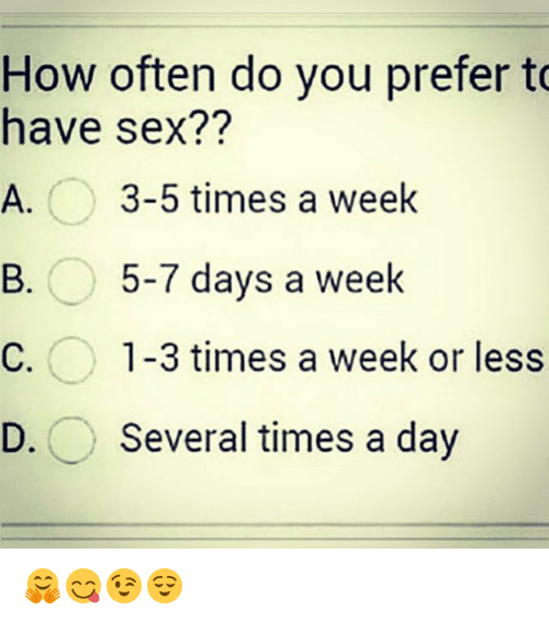 How many times should a man have sex