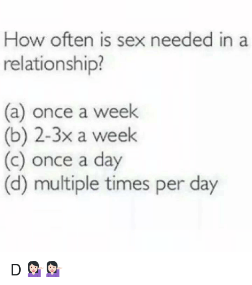 How much sex in a day