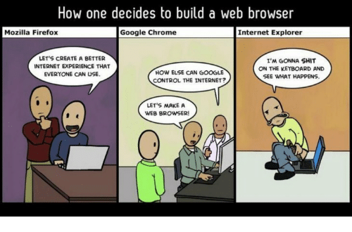How One Decides to Build a Web Browser Mozilla Firefox Google Chrome