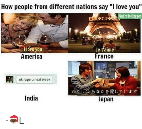 How People From Different Nations Say I Love You Satire Is 0xyeen