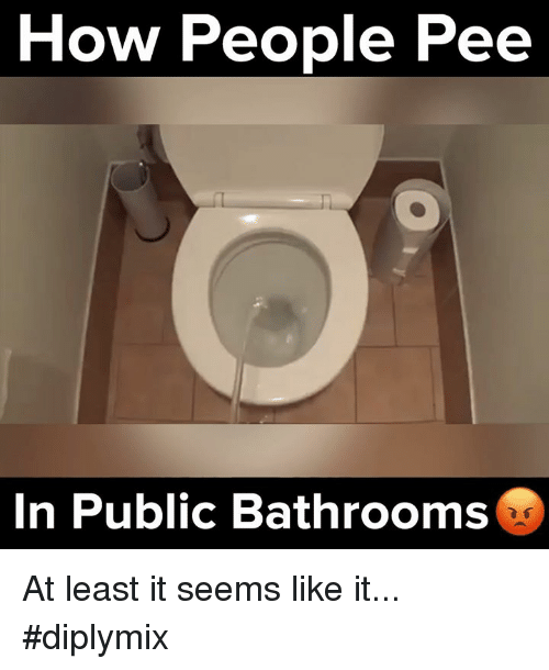 peeing in public