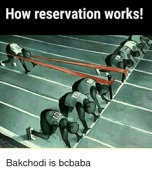 Memes, 🤖, and How: How reservation works! Bakchodi is bcbaba