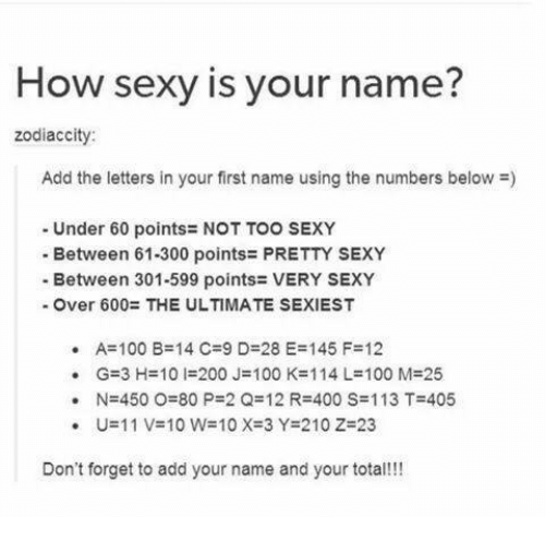 How sexy is your name foto 61