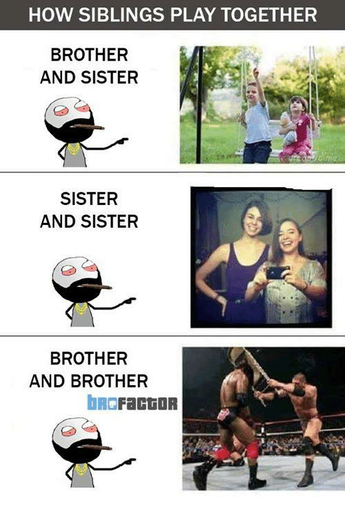 how siblings play together brother and sister sister and sister 7231310 how siblings play together brother and sister sister and sister,Brother Sister Memes