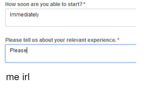 please tell us about your relevant experience