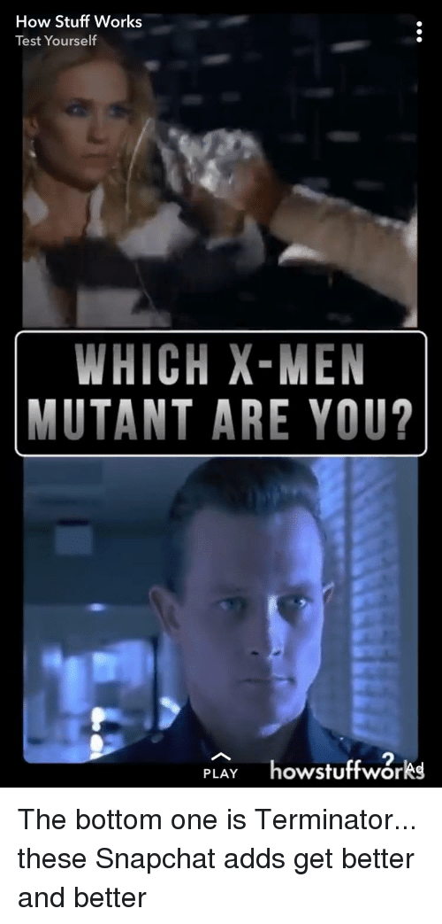 How Stuff Works Test Yourself WHICH X-Men MUTANT ARE YOU? 2