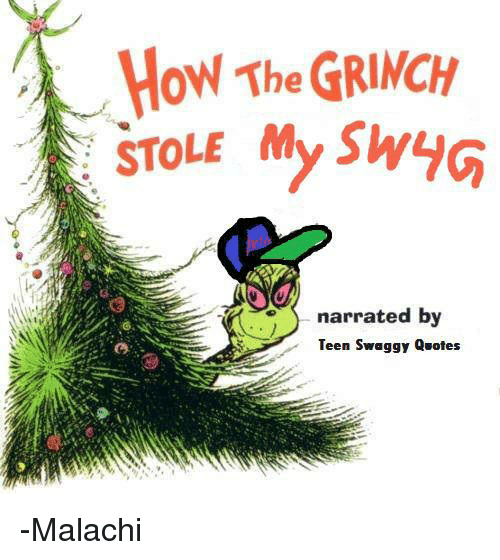 How the GRINCH STOLE My Sy Narrated by Teen Swaggy Quotes ...