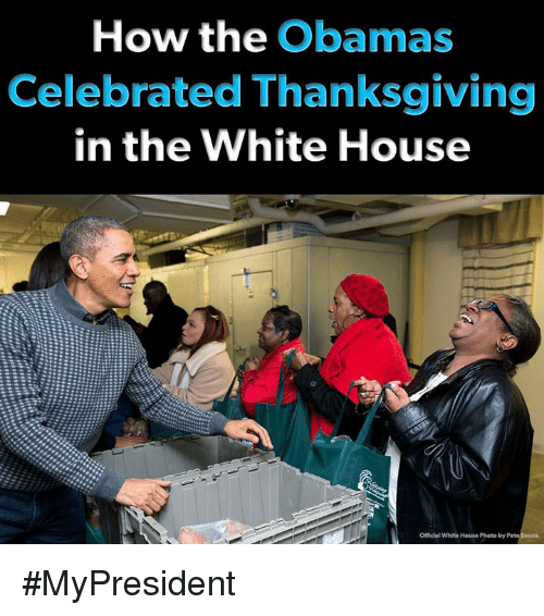 Thanksgiving, White House, and House: How the Obamas  Celebrated Thanksgiving  in the White House  Officlal White House Photo by #MyPresident