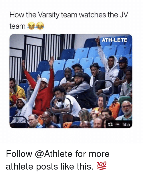 Nba, Watches, and How: How the Varsity team watches the JV  team  ATH LETE  at  et Follow @Athlete for more athlete posts like this. 💯
