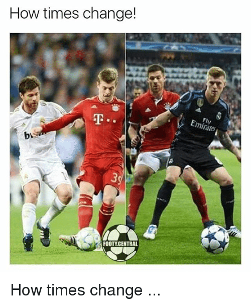 Memes, Change, and 🤖: How times change!  FOOTY CENTRAL  EmiralD How times change ...
