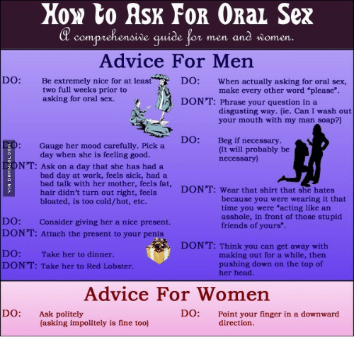 How to give good oral sex to your man