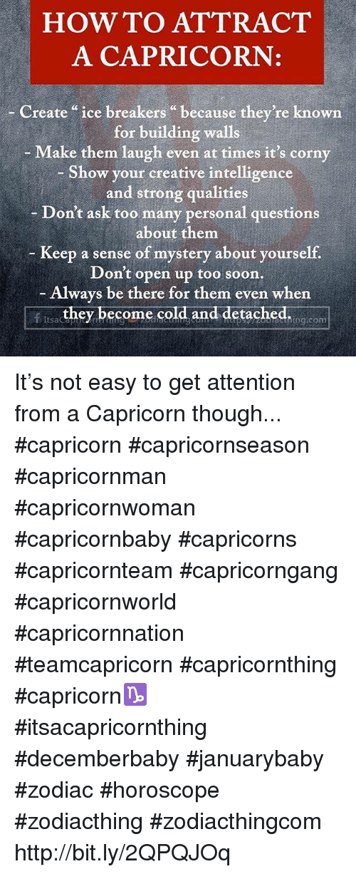 How to attract a capricorn male