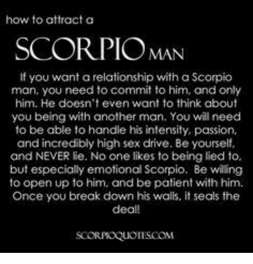 Seduce scorpio man sexually