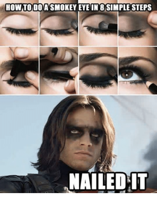 Memes, How To, and 🤖: HOW TO DO ASMOKEY EYE IN 8 SIMPLE STEPS  NAILED IT