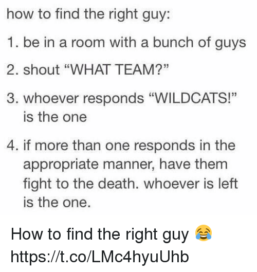 How to find the guy