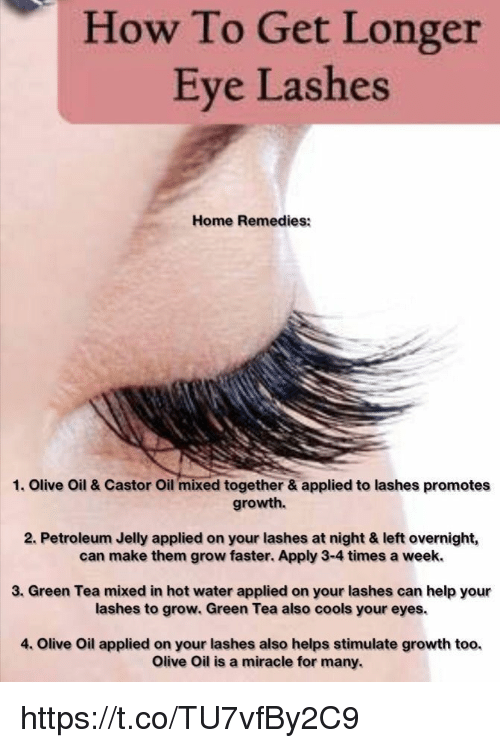 How To Get Longer Eye Lashes Home Remedies 1 Olive Oil Castor Oil