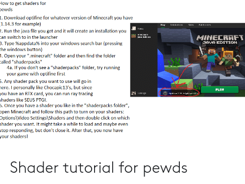 How to Get Shaders for Pewds 1 Download Optifine for